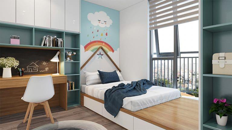 Phòng ngủ 100% đón hướng ánh sáng tự nhiên và gió trời